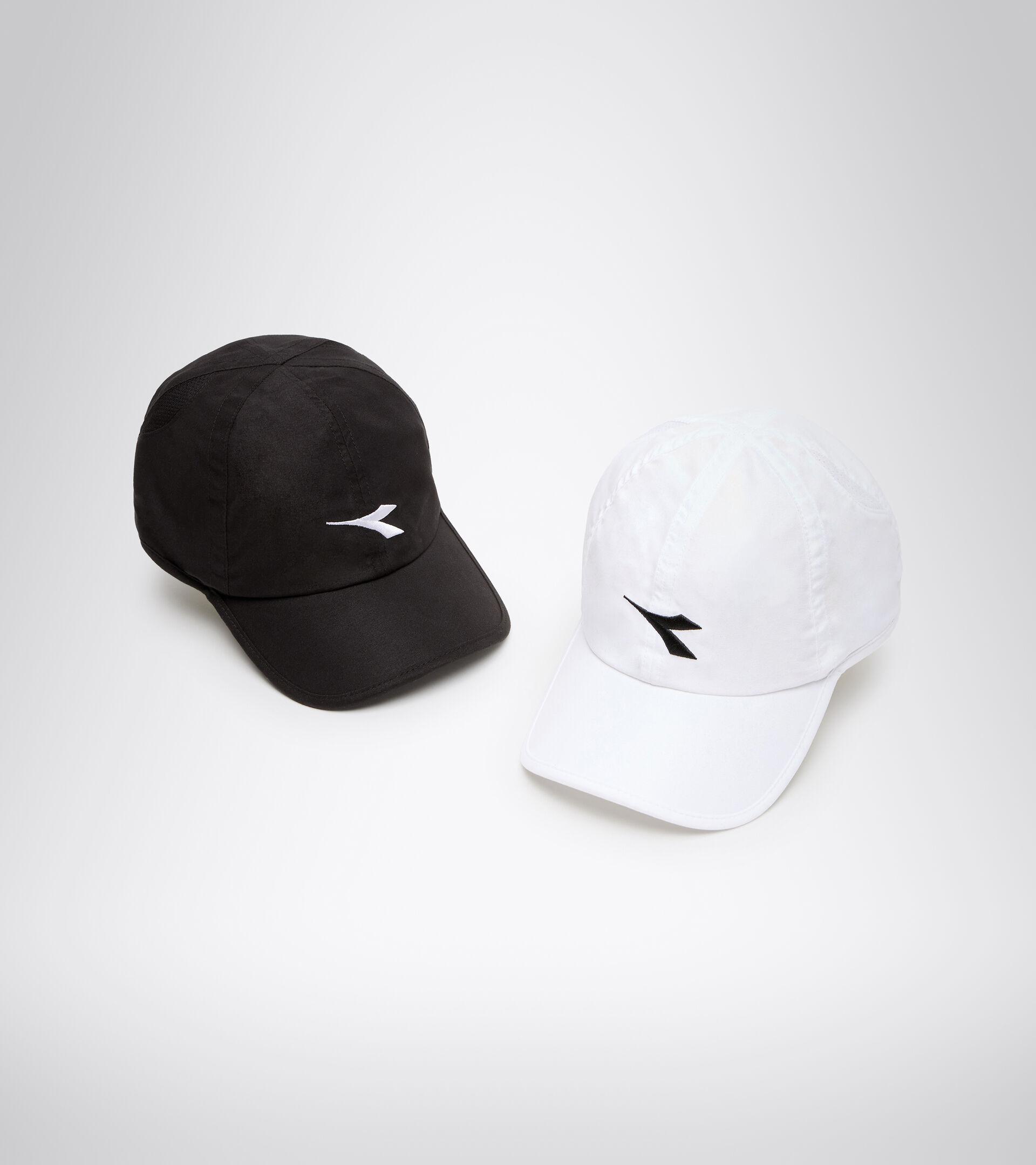 Tennis-style hat - Unisex ADJUSTABLE CAP WHITE/BLACK - Diadora
