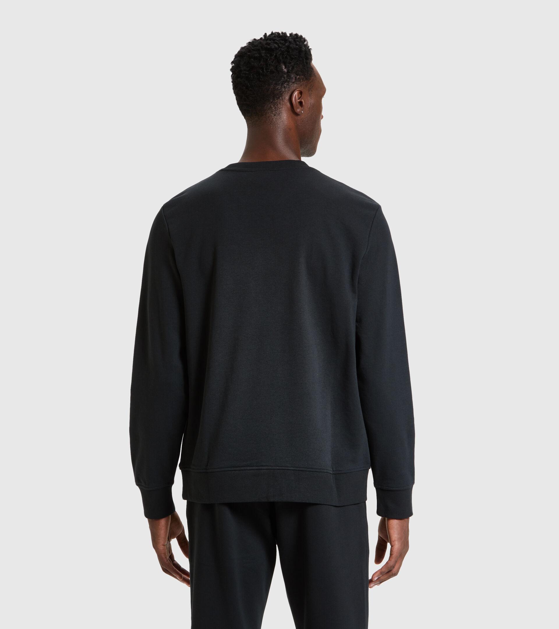 Sweater mit Rundhalsausschnitt - Herren SWEATSHIRT CREW LOGO CHROMIA SCHWARZ - Diadora