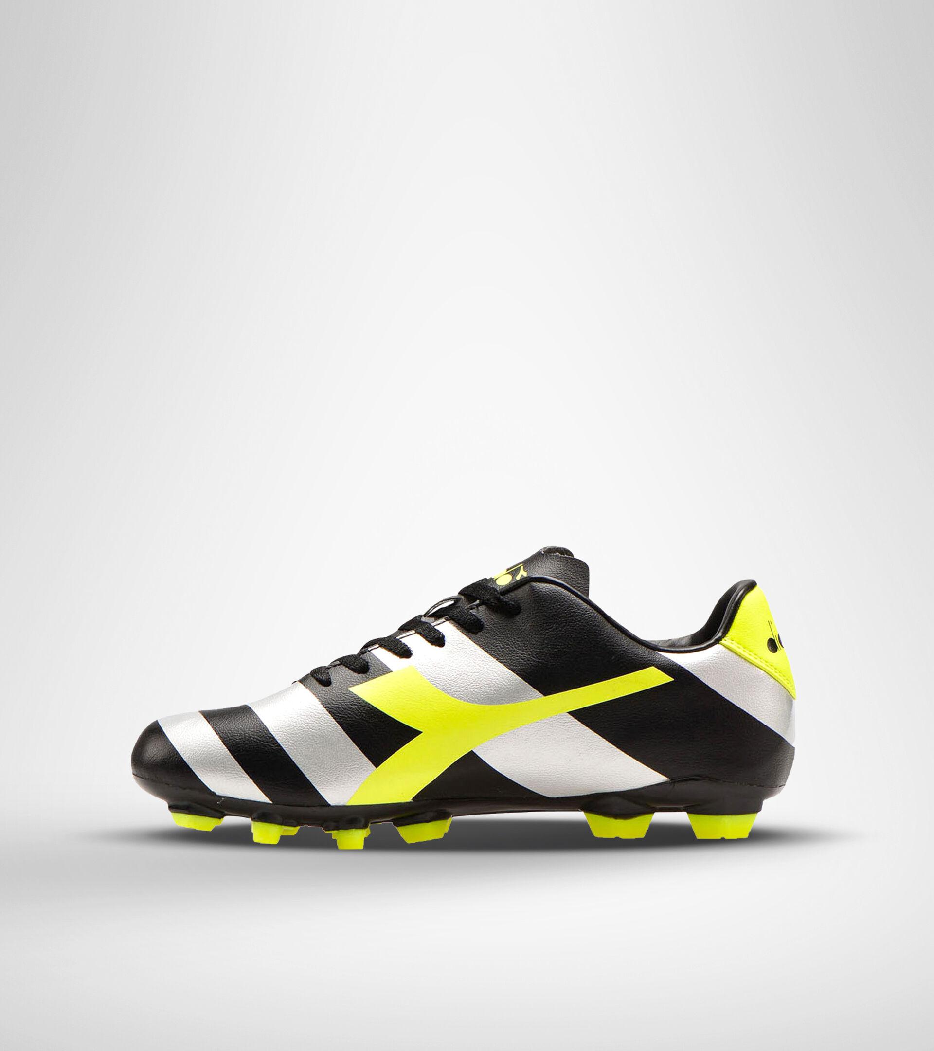 Footwear Sport UOMO RAPTOR R LPU BLACK/SILVER/YELLOW FL DD Diadora