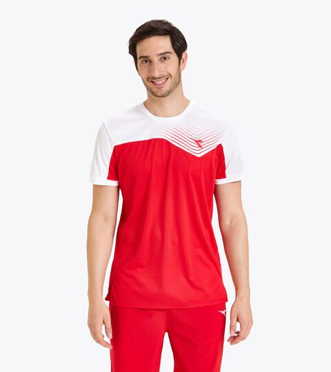 Camiseta de tenis - Hombre T-SHIRT COURT ROJO TOMATE - Diadora