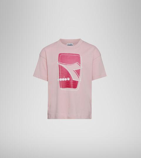 T-shirt con logo - Bambini/e JU. T-SHIRT SS ELEMENTS ROSA MANOPESCA - Diadora