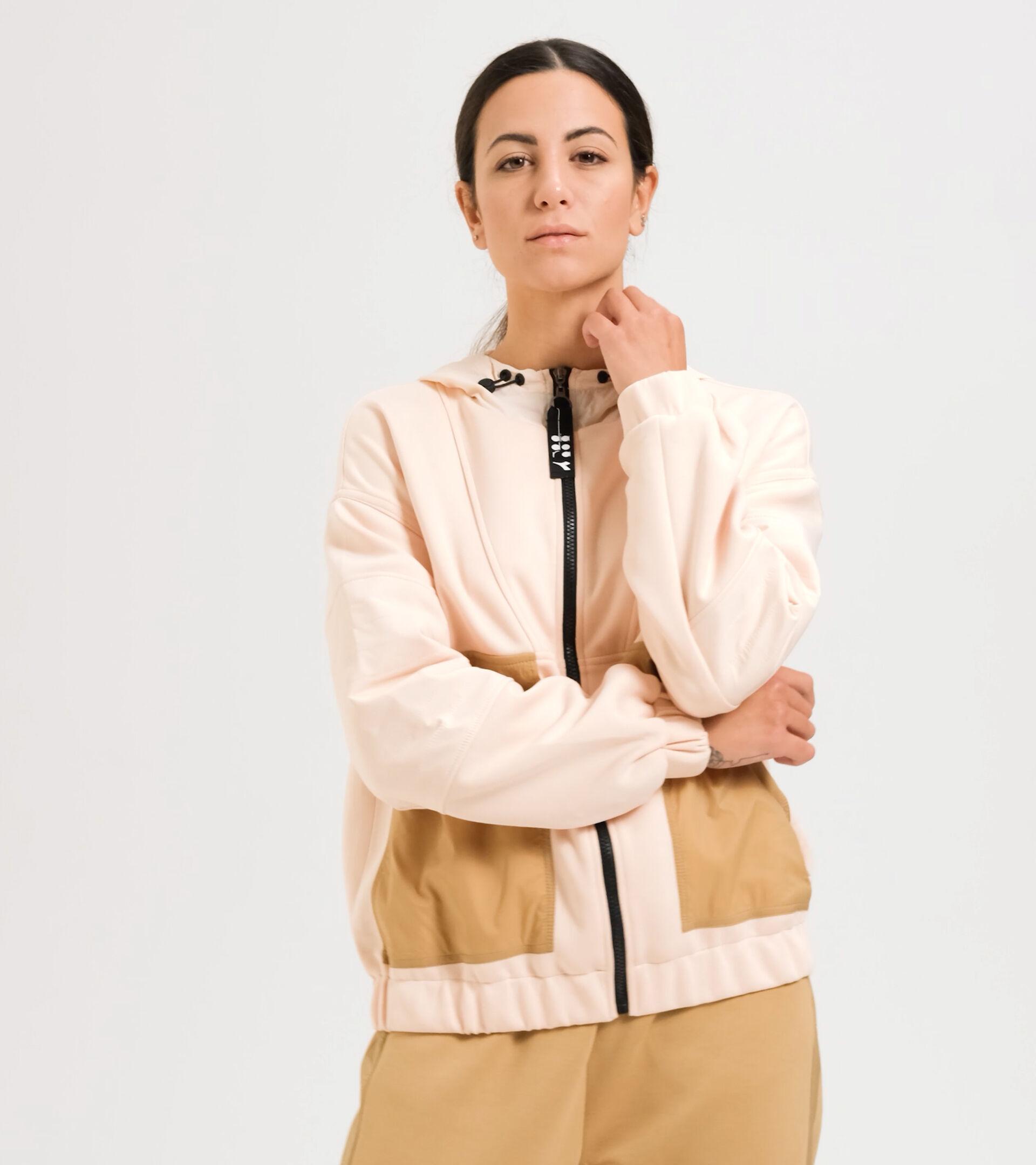 Sportjacke - Damen  L. TRACK JACKET URBANITY PASTELL ROSE HELLBRAUN - Diadora