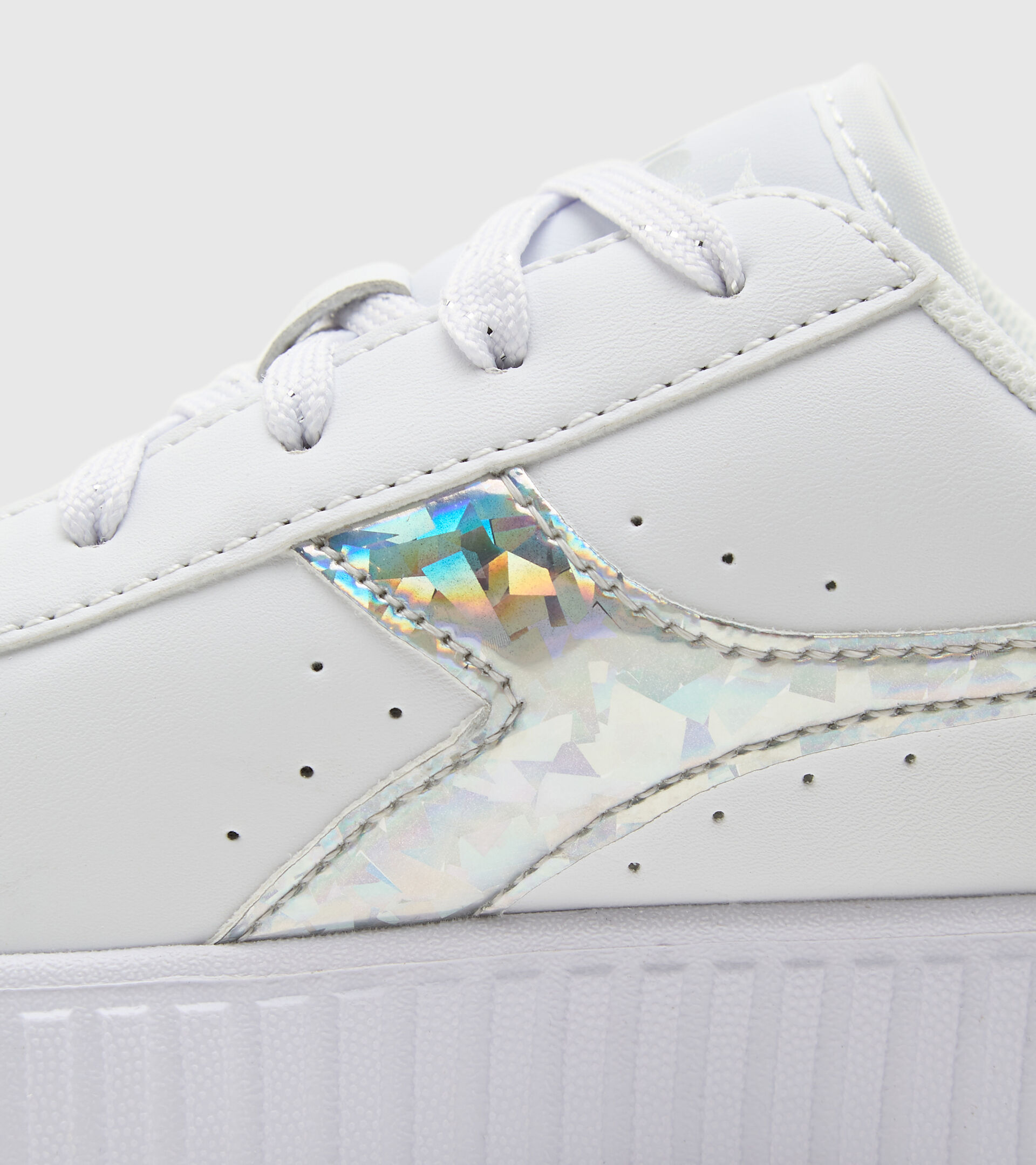 Sports shoes - Kids 4-8 years GAME STEP DIAMONDS PS WHITE/SILVER - Diadora