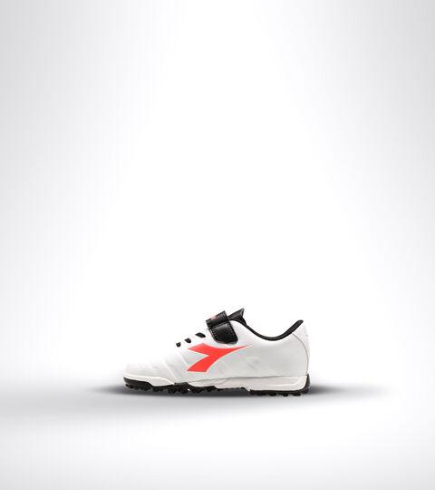 Footwear Sport BAMBINO PICHICHI 3 TF JR VE BIANCO/NERO/ROSSO FLUO Diadora