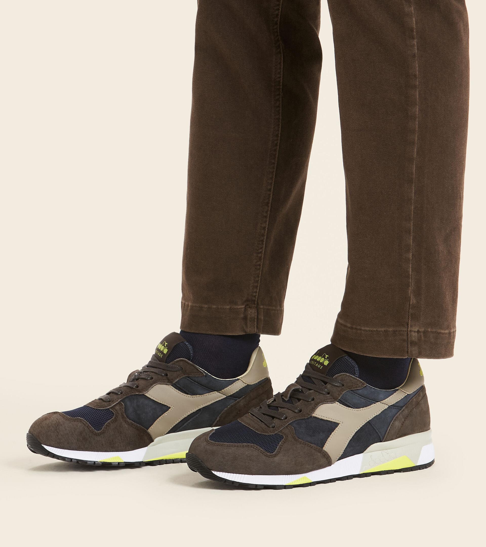 Footwear Heritage UOMO TRIDENT 90 SUEDE SW BLU PROFONDO/MARRONE CAFFE TUR Diadora