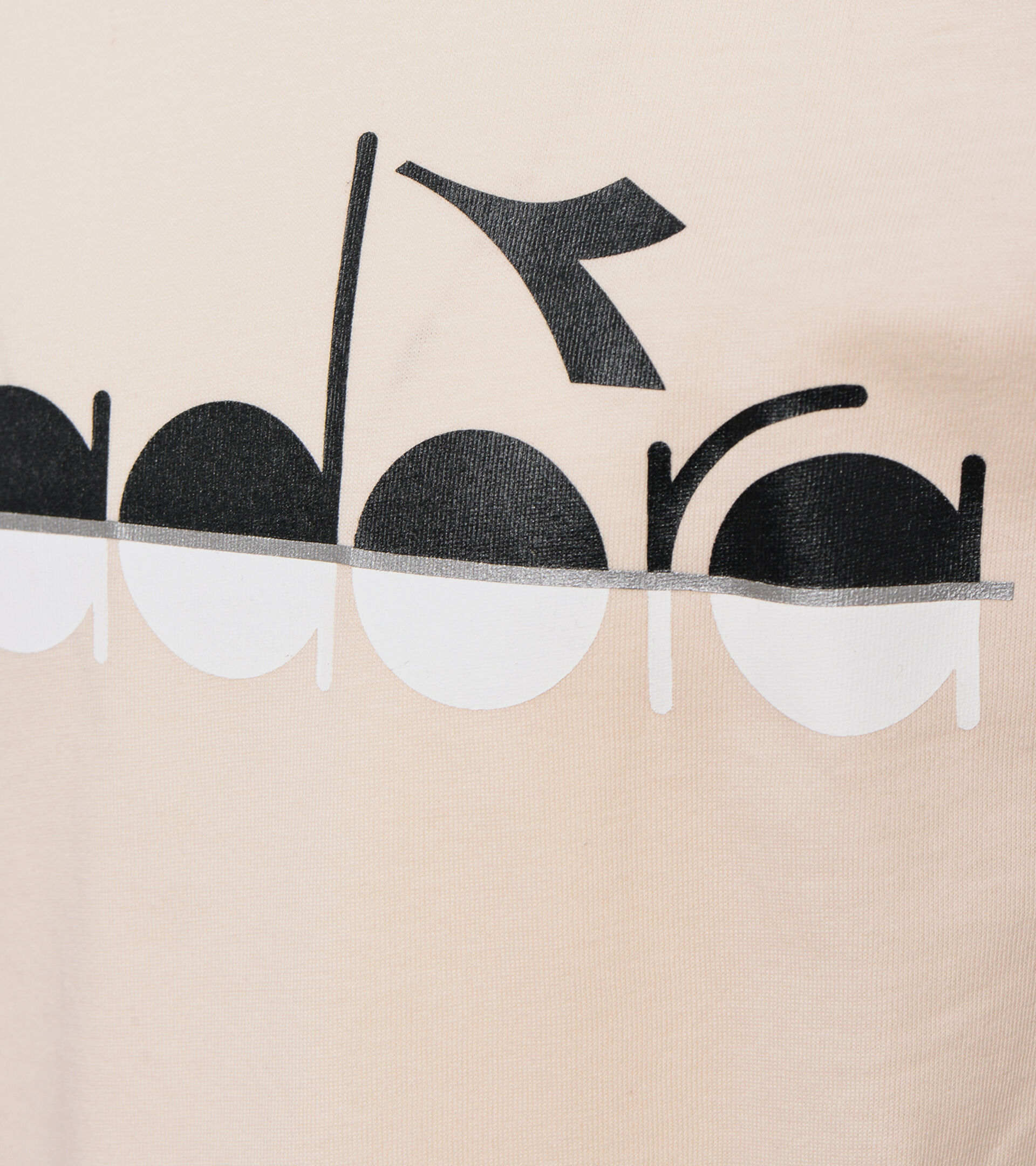 Long-sleeved T-shirt - Girls JG.LS T-SHIRT 5PALLE WHITE SMOKE - Diadora