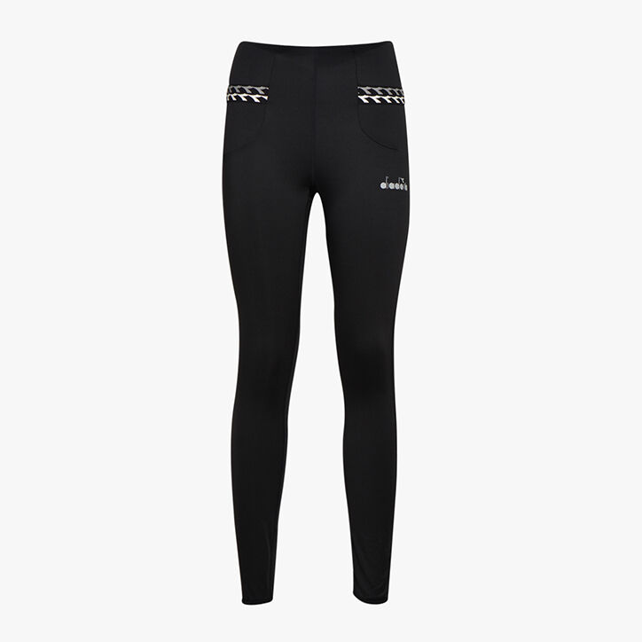 L. HW RUNNING TIGHTS, BLACK, large