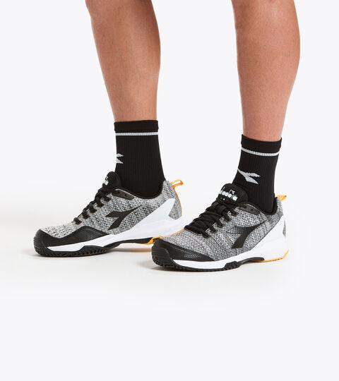 Footwear Sport UOMO S.SHOT 2 CLAY STEEL GRAY/BLACK/WHITE Diadora