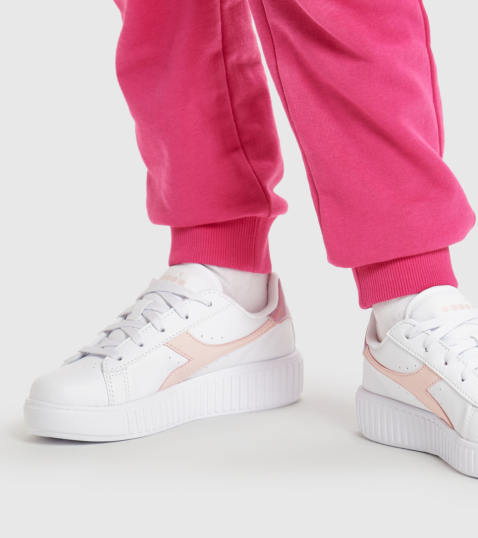 Footwear Sport BAMBINO GAME STEP PS BIANCO/ROSA VELATO Diadora