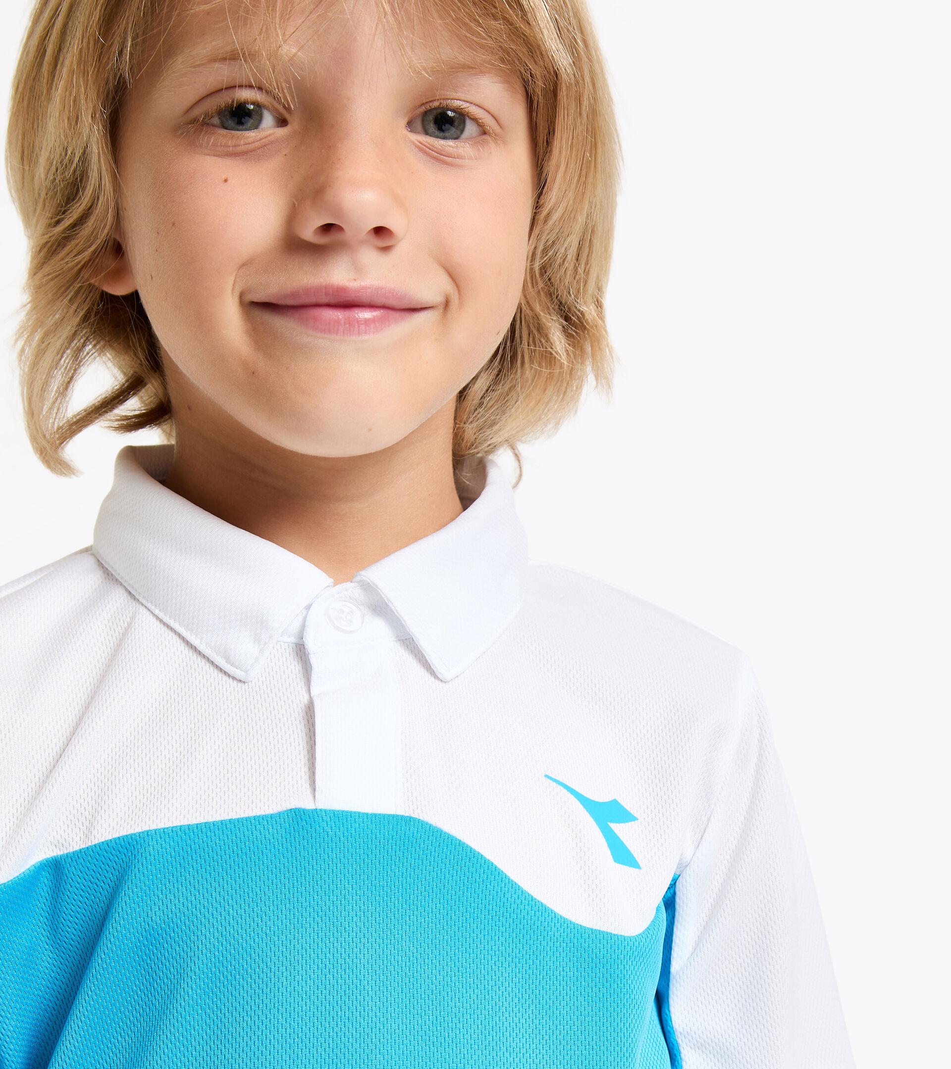 Apparel Sport BAMBINO J. POLO COURT AZUL REAL FLUO Diadora