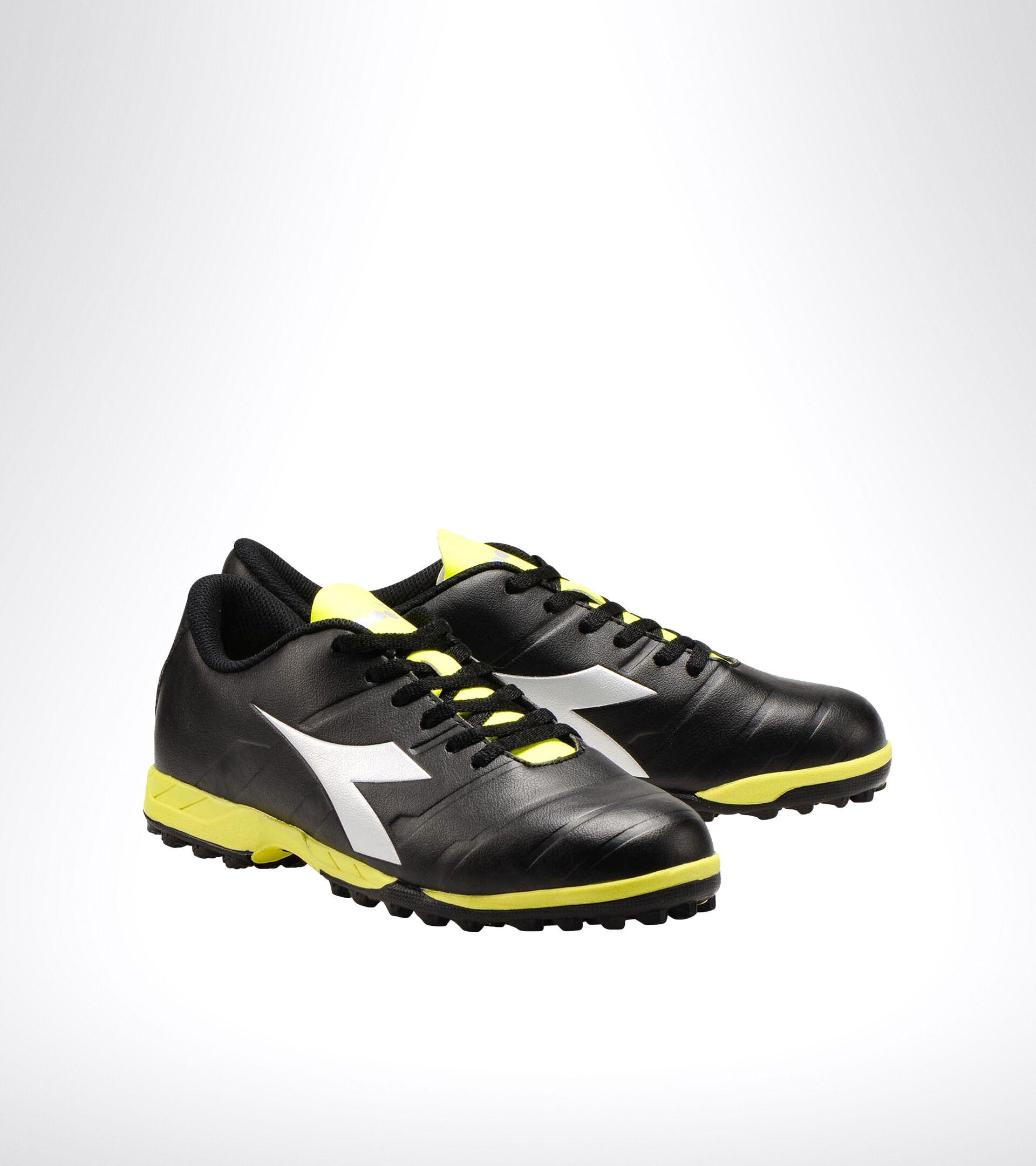 Hard ground and artificial turf football boot PICHICHI 3 TF BLACK/YELLOW FL DD/SILVER - Diadora