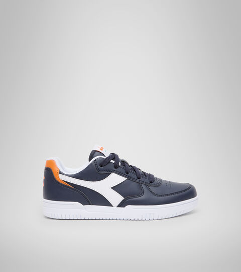 Sports shoes - Youth 8-16 years RAPTOR LOW GS BLUE CORSAIR/WHITE - Diadora