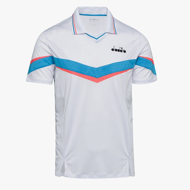 POLO SS, OPTICAL WHITE, large