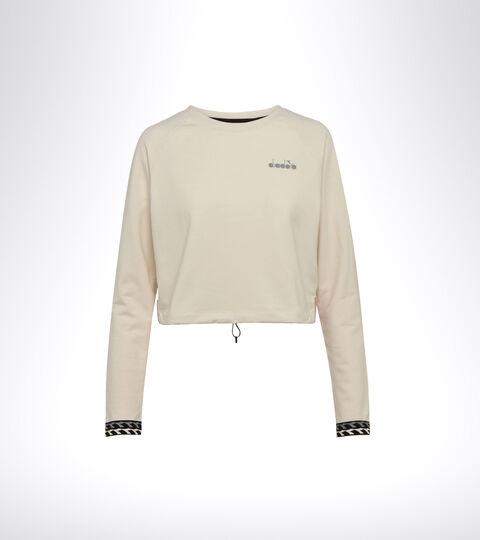 Lauf-Sweater - Damen L. LIGHTWEIGHT SWEAT BE ONE WISPERN WEISS/MAHAGONI ROSE - Diadora