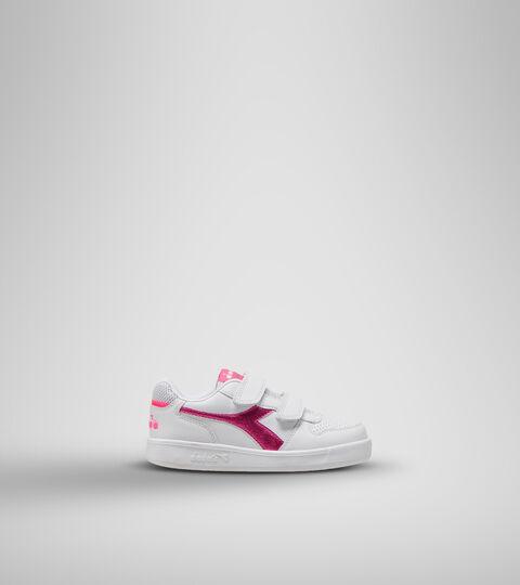 Chaussures de sport - Enfants 4-8 ans PLAYGROUND PS GIRL BLANC/ROSE FLUO - Diadora