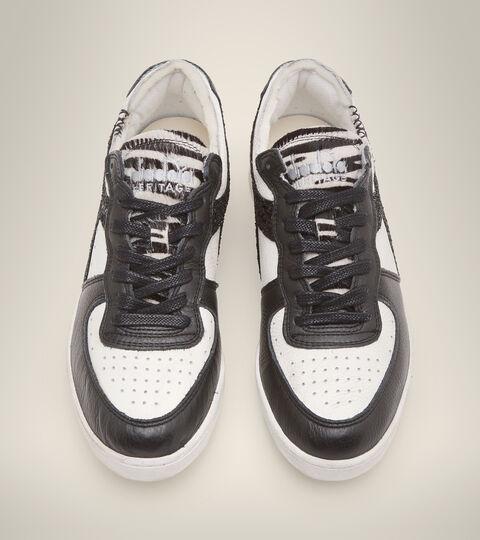 Footwear Heritage DONNA MI BASKET ROW CUT JUNGLE WN BLANCO/NEGRO Diadora