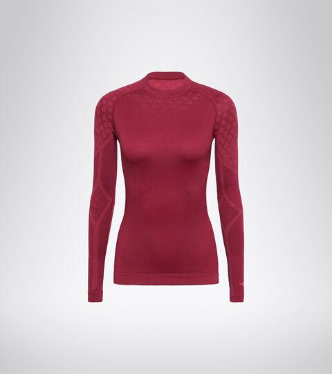 Long-sleeved training t-shirt - Women L. LS T-SHIRT ACT VIOLET RUBINE - Diadora