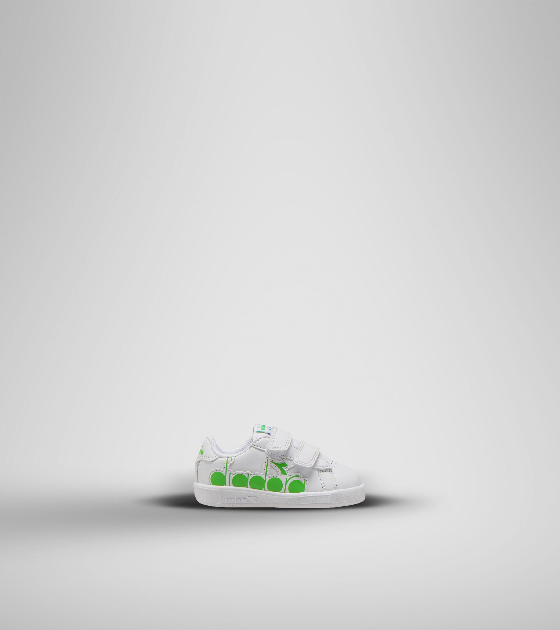 Footwear Sport BAMBINO GAME P BOLDER TD WHITE/GREEN EVIDENCE Diadora