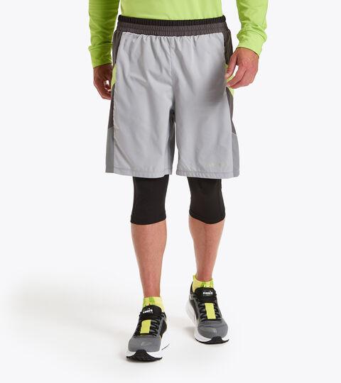 Short de running - Homme POWER SHORTS BE ONE GRIS ALLIAGE - Diadora