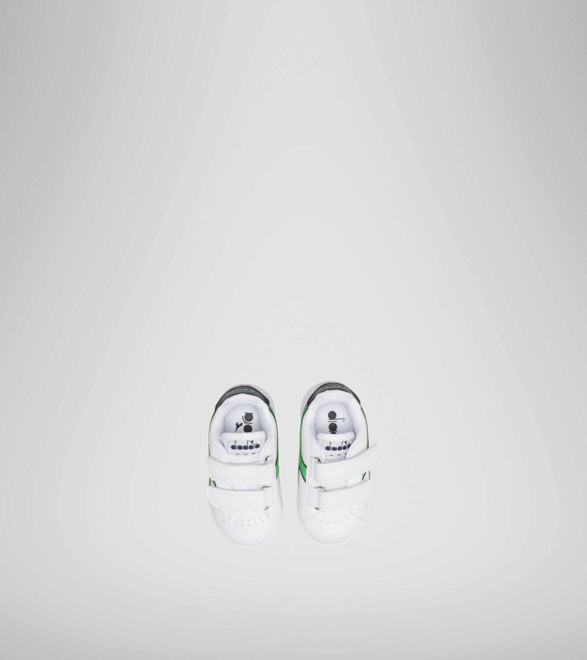 Footwear Sport BAMBINO GAME P TD WHITE/BLACK IRIS/CLASSIC GREEN Diadora