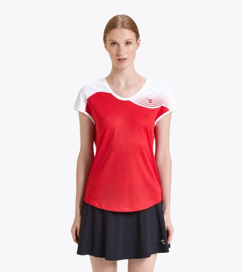 T-shirt da tennis - Donna L. T-SHIRT COURT TOMATO RED - Diadora