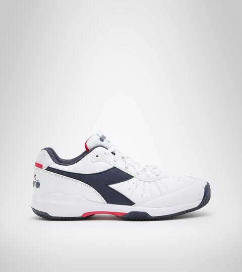 Clay court tennis shoe - Men S.CHALLENGE 3 SL CLAY WHITE/BLUE CORSAIR - Diadora