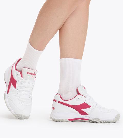 Footwear Sport DONNA S. CHALLENGE 3 W SL CLAY BLANCO/ROSADO LLAMATIVO Diadora