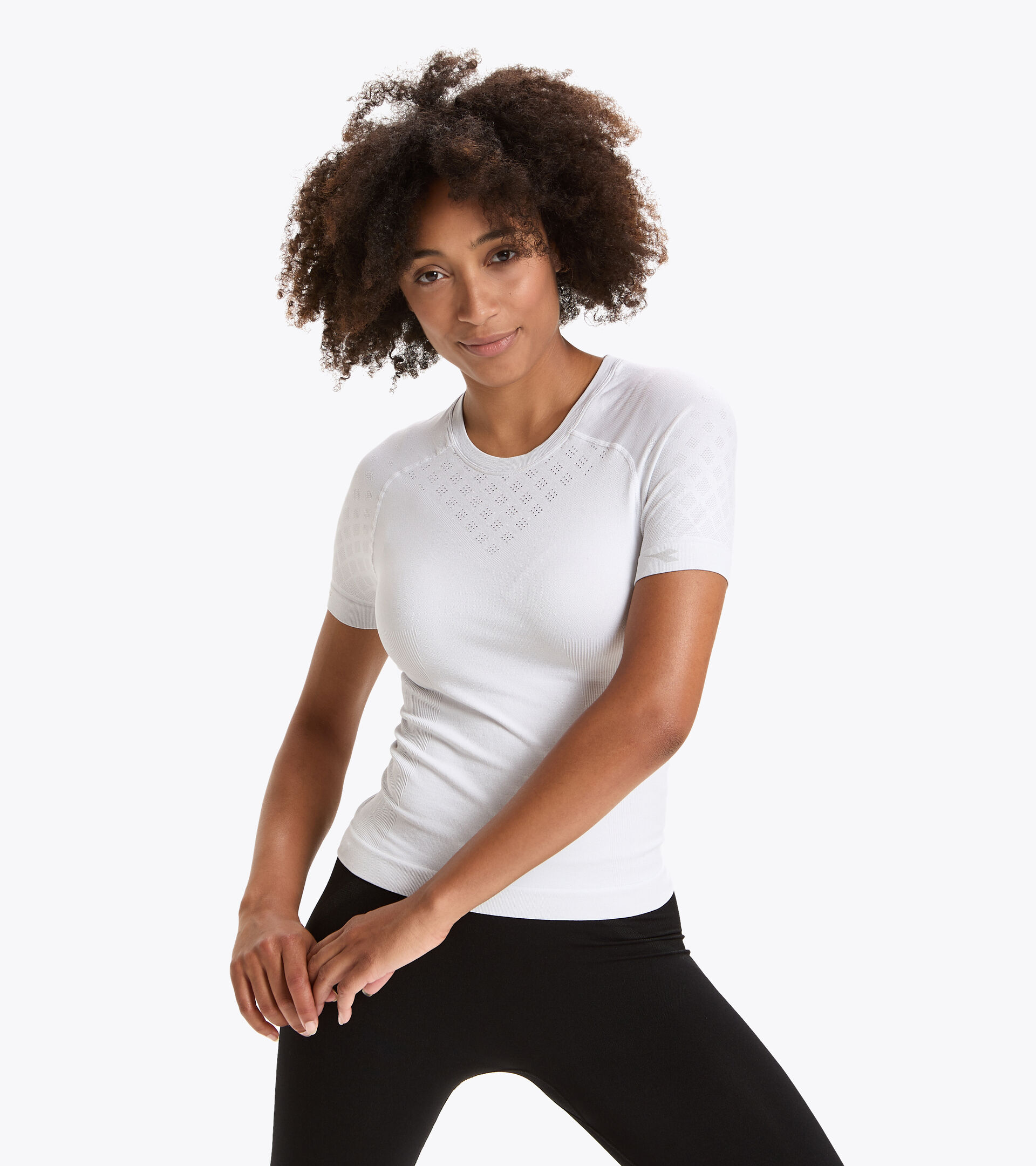 Camiseta de entrenamiento de manga corta - Mujer L. SS T-SHIRT ACT BLANCO VIVO - Diadora