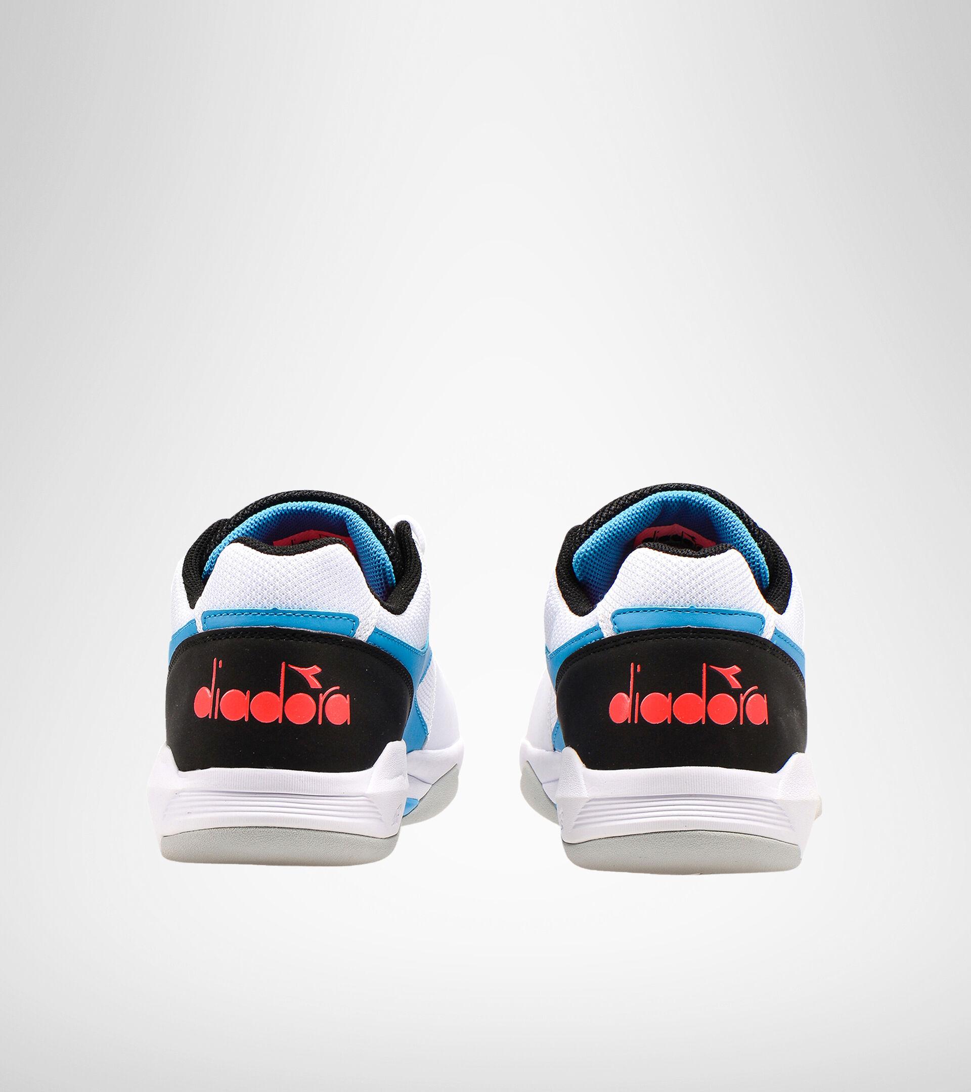 Indoor synthetic court tennis shoe - Unisex S.CHALLENGE 3 CARPET WHITE/BLUE FLUO - Diadora