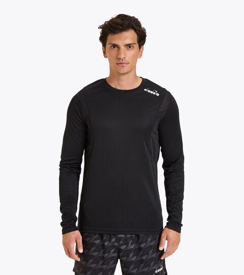Running T-shirt - Men LS CORE TEE BLACK - Diadora