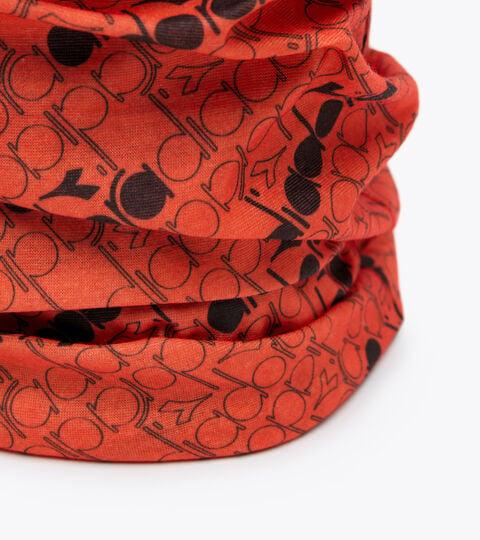Headband - Unisex MULTI HEADBAND ALL OVER RED TIGERLILY - Diadora