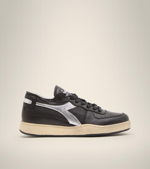 Footwear Heritage UNISEX MI BASKET ROW CUT NEW MOON BLACK Diadora