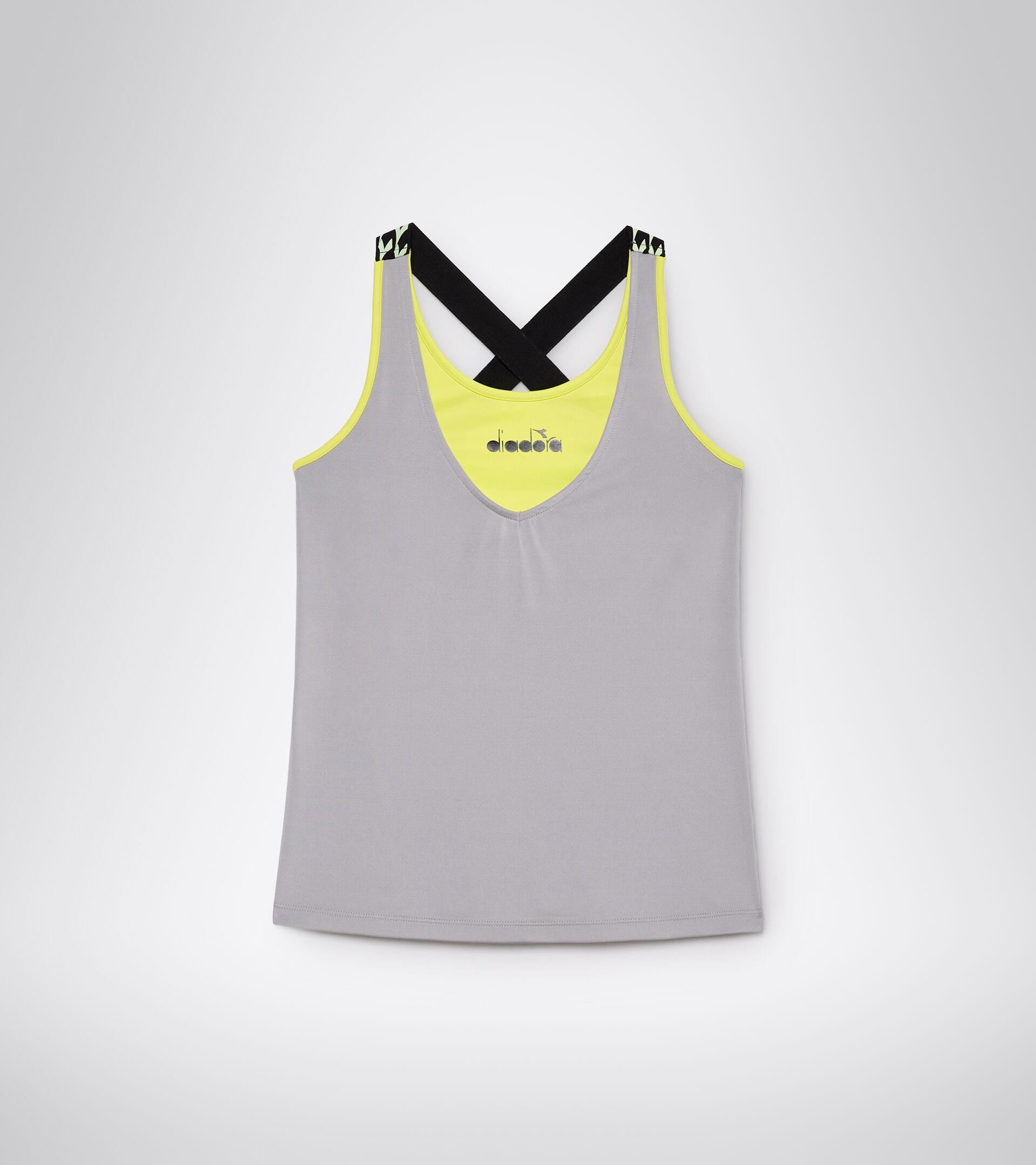 Camiseta sin mangas de tenis - Mujer L. TANK CLAY GRIS ALEACION - Diadora