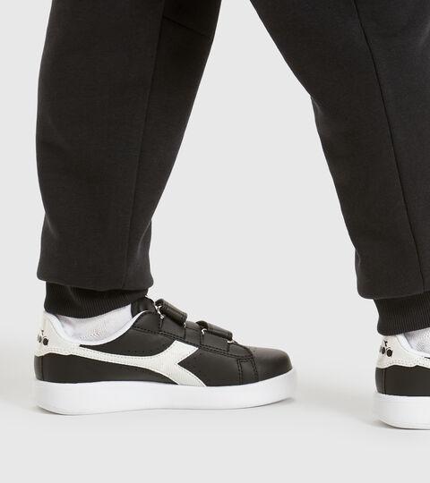 Footwear Sport BAMBINO GAME P PS GIRL BLACK /WHITE Diadora