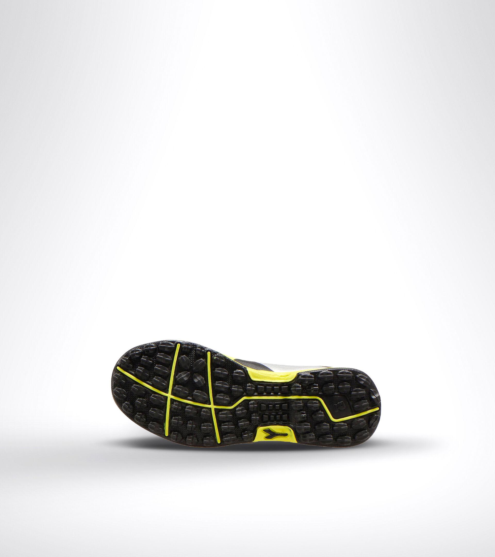 Botas de fútbol para terrenos duros y césped artificial - Unisex Niño RAPTOR R TF JR NERO/ARGENTO/GIALLO FL DD - Diadora