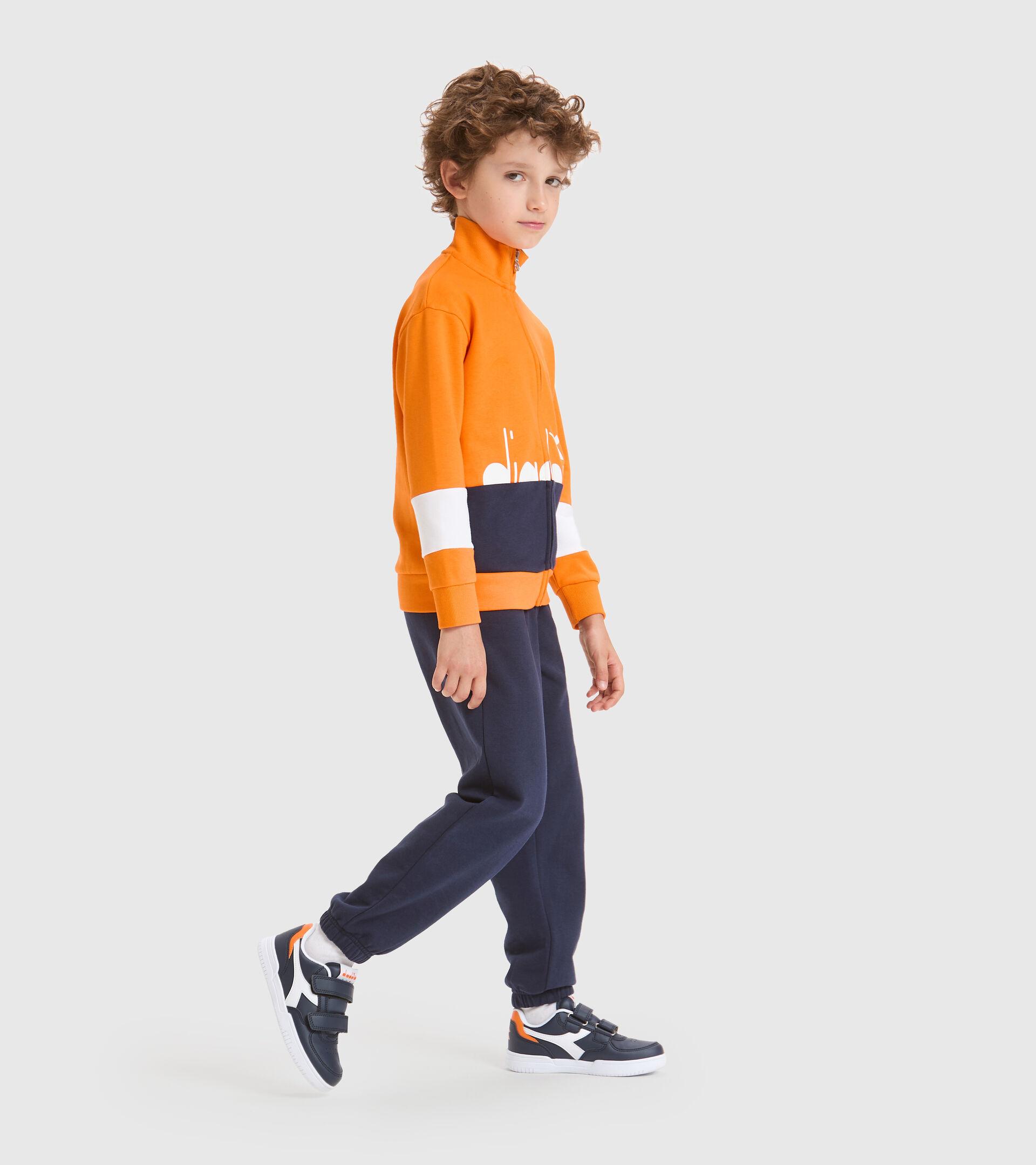 Trainingsanzug - Kinder JB.TRACKSUIT FZ HOOPLA KAKIPFLAUME ORANGE - Diadora