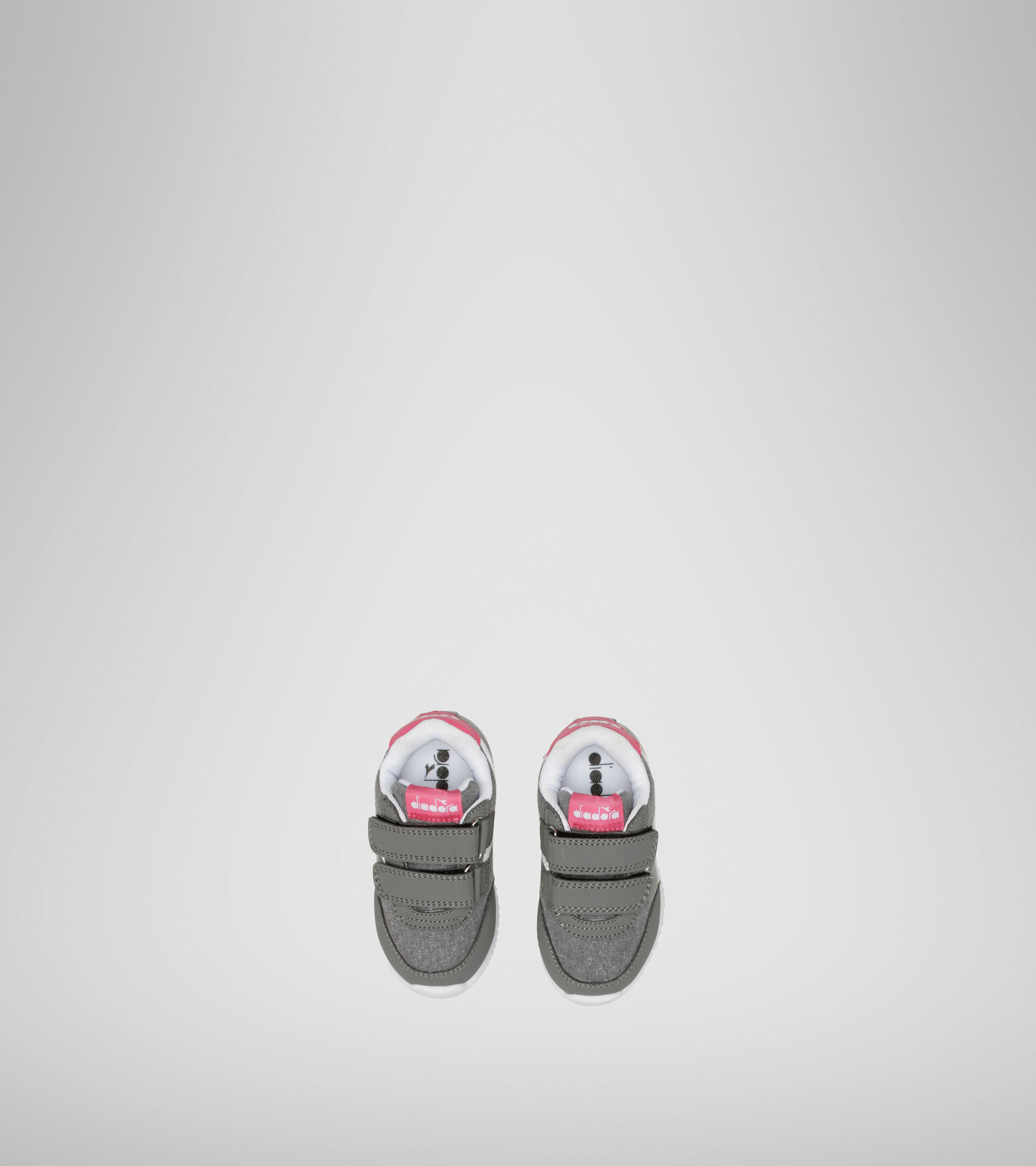 Footwear Sport BAMBINO JOG LIGHT TD CHARCOAL GRAY/FANDANGO PINK Diadora