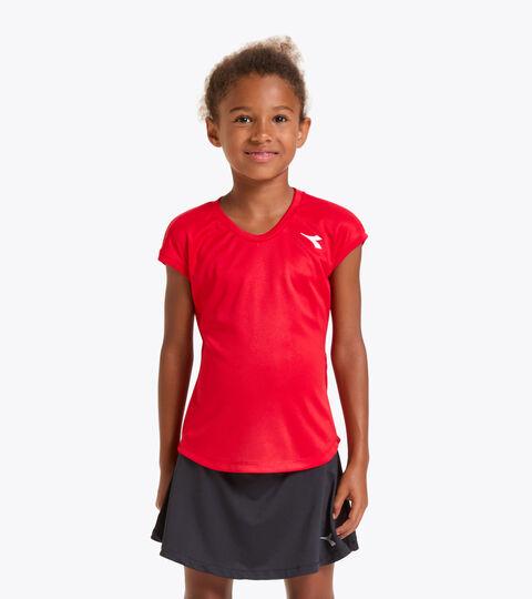 Tennis-T-Shirt - Junior G. T-SHIRT TEAM TOMATENROT - Diadora