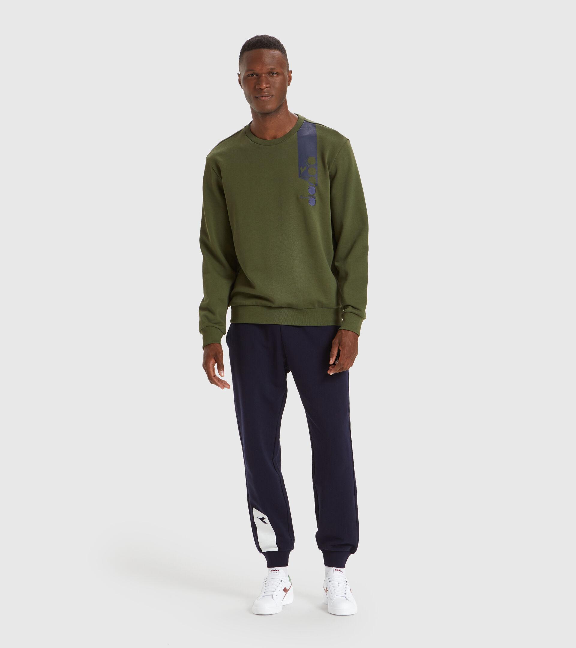 Apparel Sportswear UOMO SWEATSHIRT CREW ICON CYPRESS GREEN Diadora