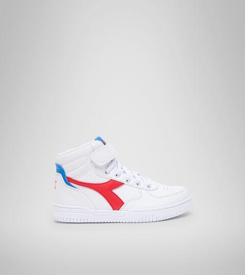 Footwear Sport BAMBINO RAPTOR MID PS BIANCO/TOMATO RED Diadora
