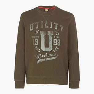 SWEATSHIRT GRAPHIC, MILITARY GREEN, medium