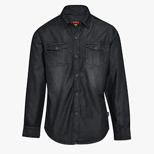 SHIRT DENIM, NEW BLACK WASHING, medium