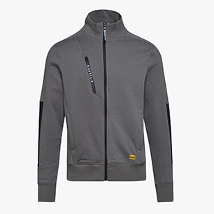 SWEATSHIRT FZ LITEWORK, STEEL GREY, medium