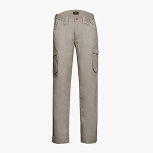 PANT STAFF LIGHT CARGO COTTON, GREY HEMP, medium
