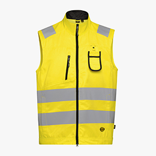 HV VEST ISO 20471, AMARILLO FLUORESCENTE, medium