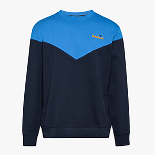 SWEATSHIRT CREW 5PALLE OFFSIDE V, BLEU DENIM, medium