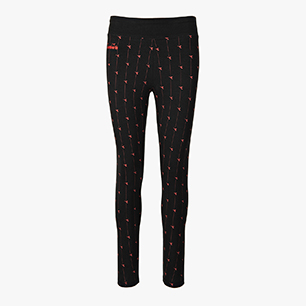L.LEGGINGS LOGO, BLACK/RED , medium