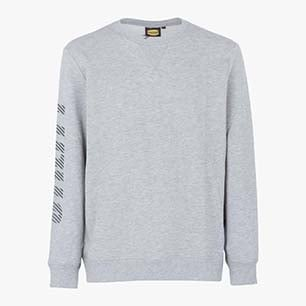 SWEATSHIRT FALCON II, GRIGIO MELANGE MEDIO, medium