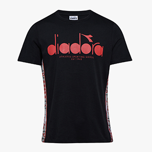 T-SHIRT SS 5PALLE OFFSIDE, BLACK/RED CAPITAL, medium