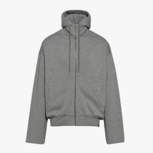 COACH FULL ZIP, GRAY MELANGE MIDDLE, medium